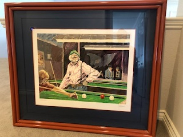 """Billiards at Cafe Paloma"" Serigraph by Aldo Luongo"