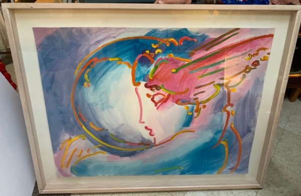 """""""I Love The World"""" Serigraph on paper by Peter Max"""