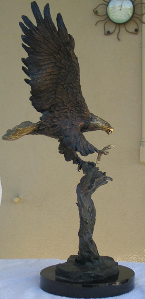 """Centennial"" Bronze Eagle Sculpture by Laran Ghiglieri"