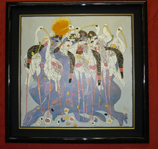 """""""Springtime"""" Serigraph by Tie-Feng Jiang"""