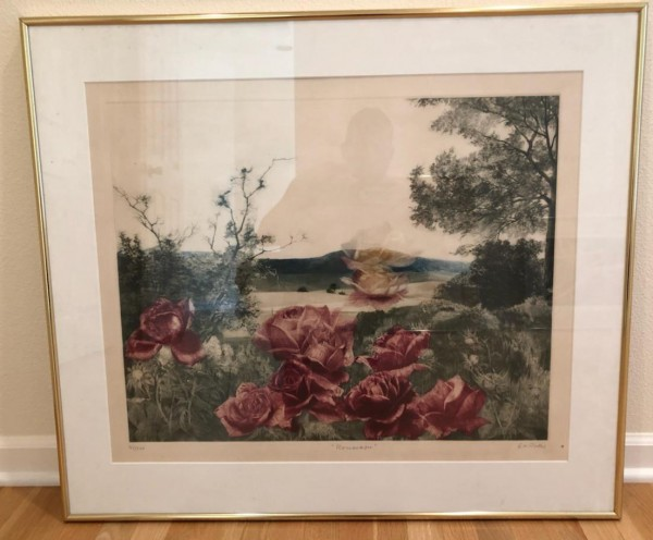 Rose Scape Mezzotint by G. H. Rothe