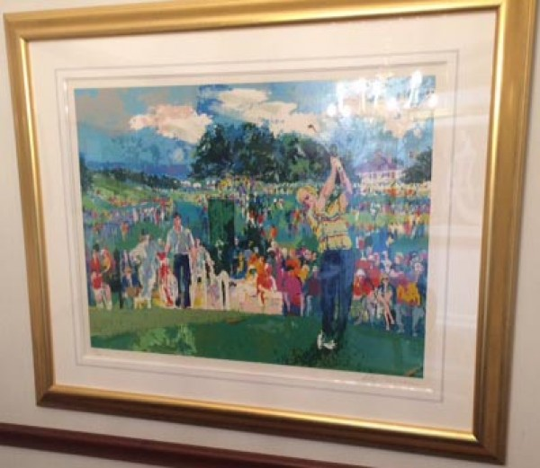 """April at Augusta"" serigraph by LeRoy Neiman"