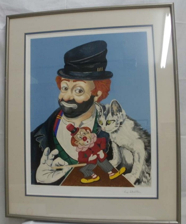 """Freddie, Kitty & Jack"" Framed Serigraph by Red Skelton"