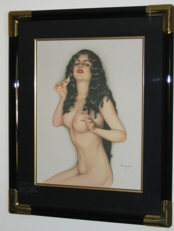 """""""Broadway Showgirl"""" Framed Lithograph/ Arches by Alberto Vargas"""