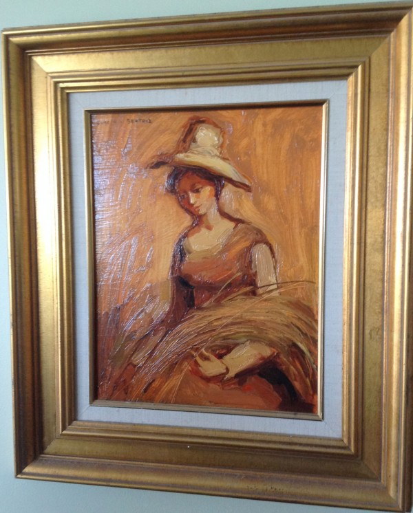 """""""Girl with Wheat"""" Original Oil on Canvas by Dulce Beatriz"""