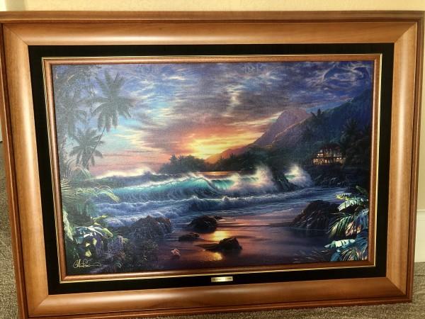 Eternal Embrace AP Lassengraph on Canvas with 5 1 pt diamonds by Christian Riese Lassen