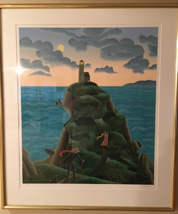 """Lighthouse"" Serigraph on Paper by Thomas McKnight"