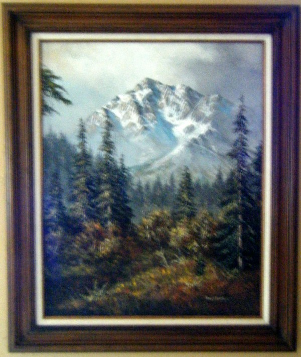 """""""Untitled Mountain Landscape"""" Original Oil on Canvas by Tom Dooley"""