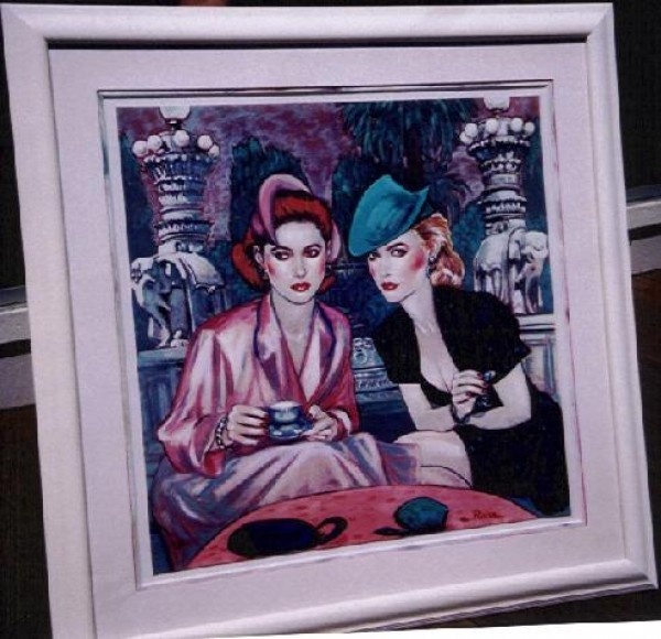 """""""Think I'm Gonna Like It Here"""" Framed, Hand-Embellished Serigraph by Colleen Ross"""