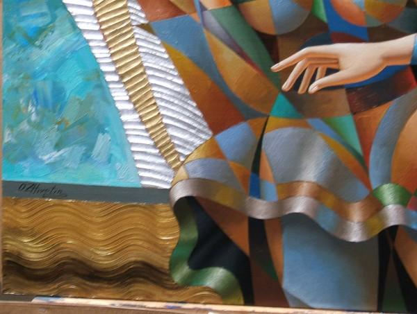 """Dance"" Original Mixed Media on Canvas by Oleg Zhivetin"