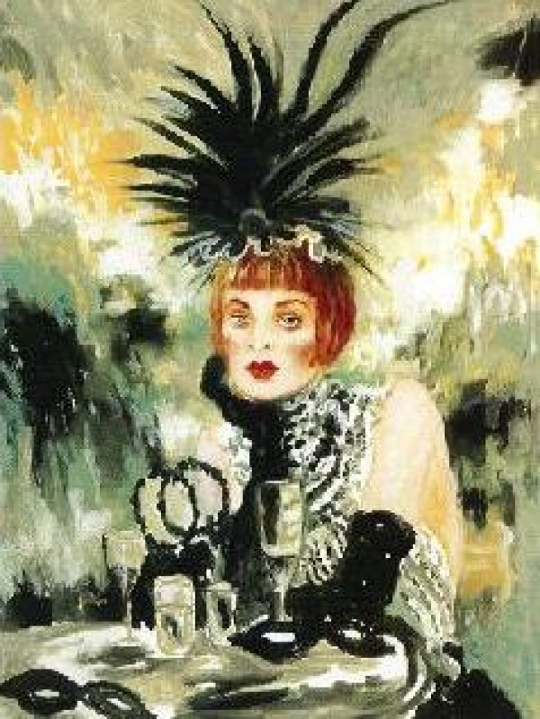 """Lola"" Serigraph on Canvas from the Moulin Rouge Suite"