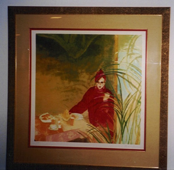 """Breakfast At Tiffany's"" Framed Serigraph by Joanna Zjawinska"