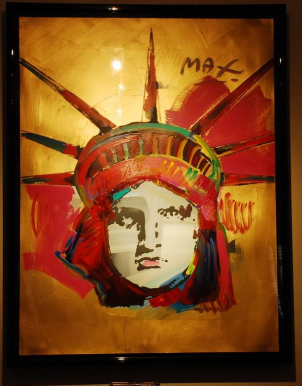 """""""Liberty"""" Framed Unique Acrylic/Serigraph by Peter Max"""