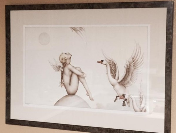 """""""Summer Breeze"""" Framed Stone Lithograph by Michael Parkes"""