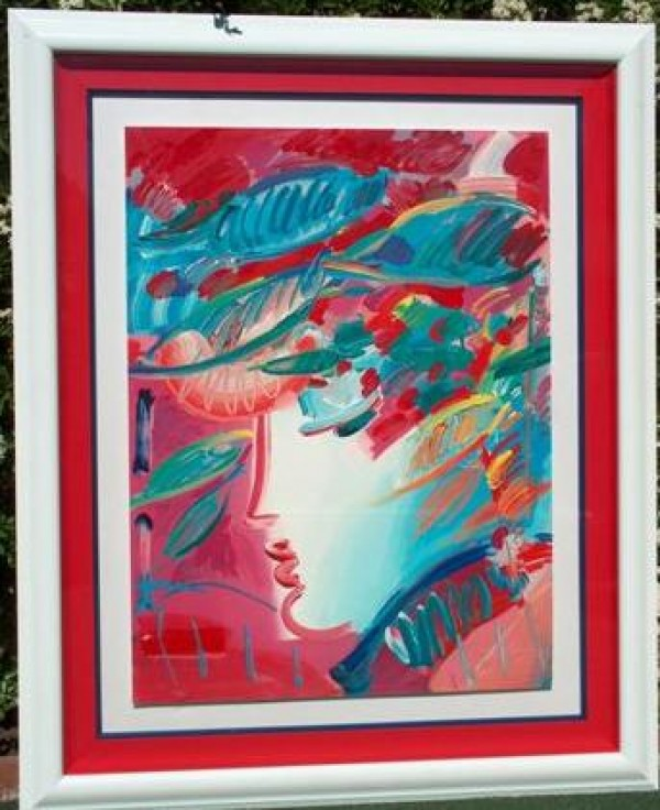 """""""Beauty"""" Framed Serigraph/Arches Paper by Peter Max"""