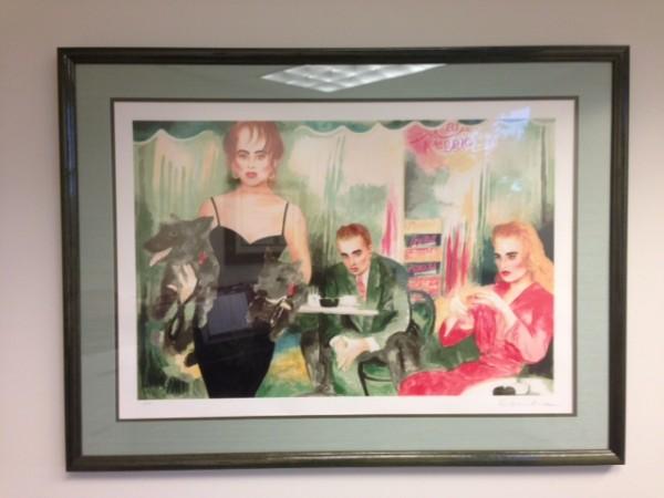 """""""Cafe Reggio"""" Framed Serigraph by Joanna Zjawinska"""