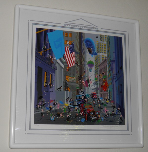 """Wall Street"" Serigraph by Melanie Taylor Kent"