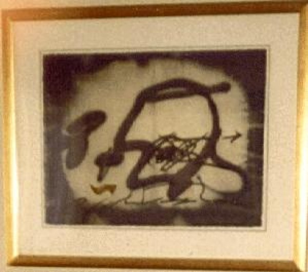 """Perfil"" Etching with Carborundum by Antoni Tapies"
