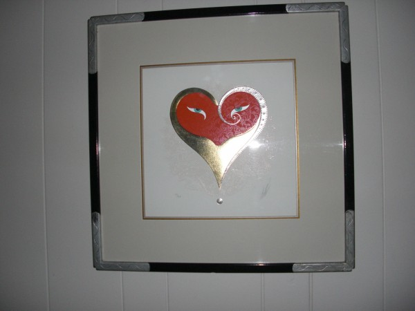 """""""Heart 11 Red"""" from the Hearts and Zephyrs Suite by Erte"""
