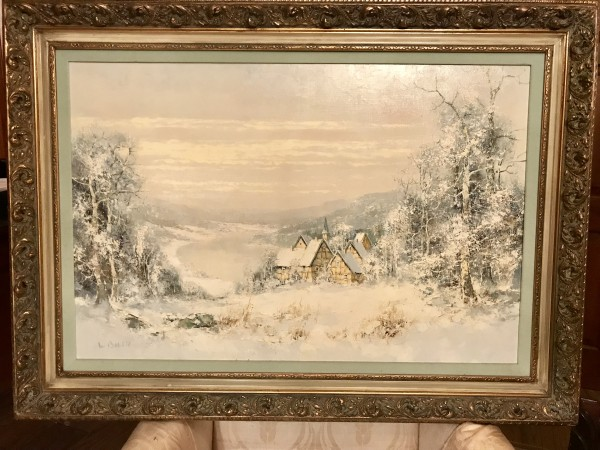 """Winter"" Original Oil on Canvas by Willi Bauer"