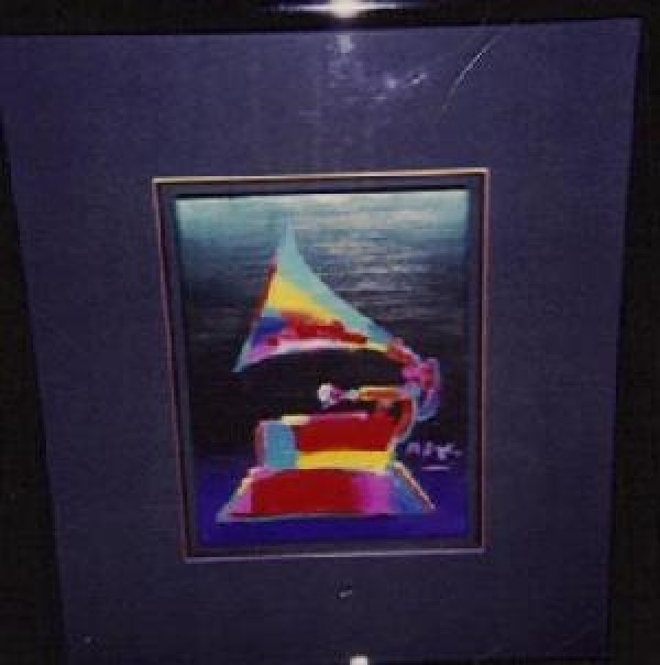 """""""Grammy '89"""" original framed acrylic on canvas by Peter Max"""
