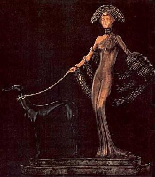 Elegance Bronze sculpture by Erte