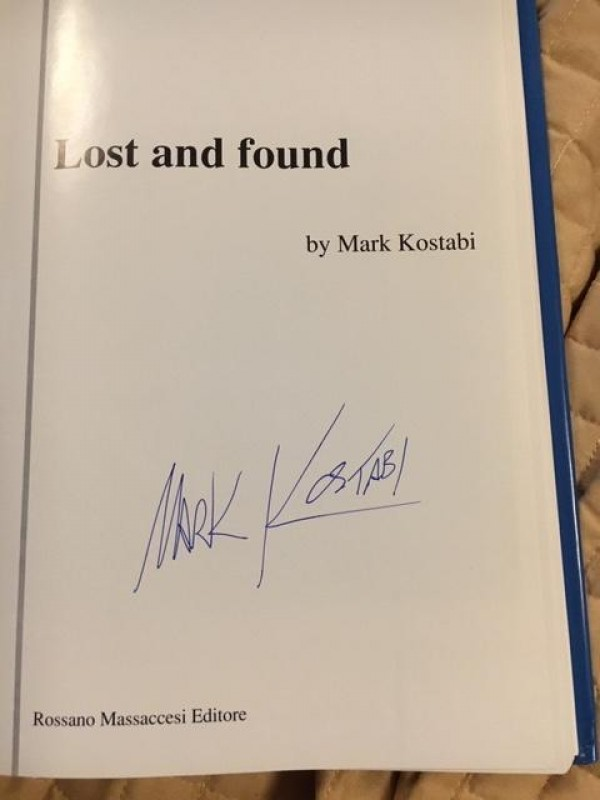 """Lost and Found"" book by Mark Kostabi"