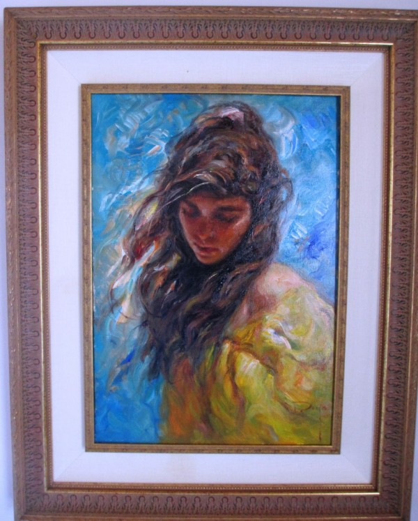 """Viento de la Vante""  Framed Original Oil on Canvas by Royo"