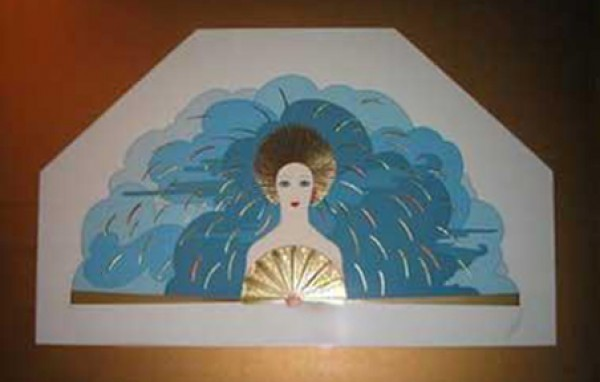 Storm1987 Framed serigraph from the Storm & Harvest Suite by Erte