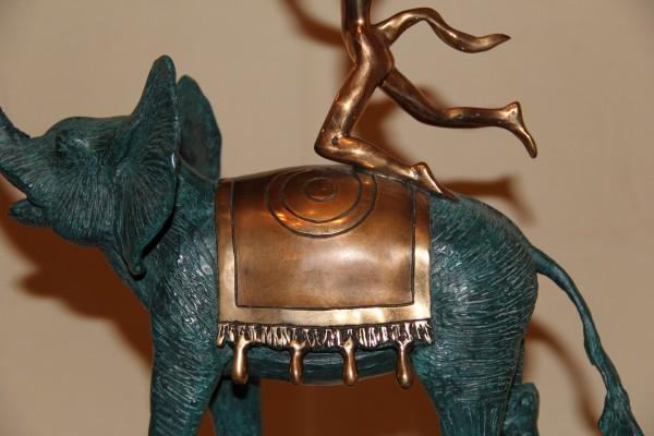 """""""Triumphant Elephant"""" Bronze Sculpture detail by Salvador Dali"""