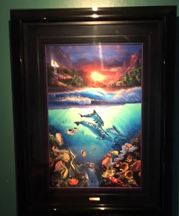 """Mystical Journey"" AP Lassengraph with 5 Diamonds by Christian Riese Lassen"