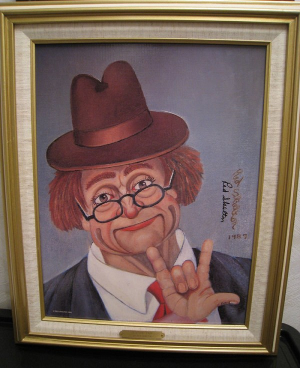 """I Love You"" Framed Serigraph/Canvas by Red Skelton"