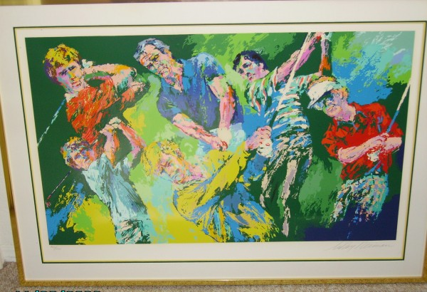 """Golf Winners"" Serigraph by LeRoy Neiman"