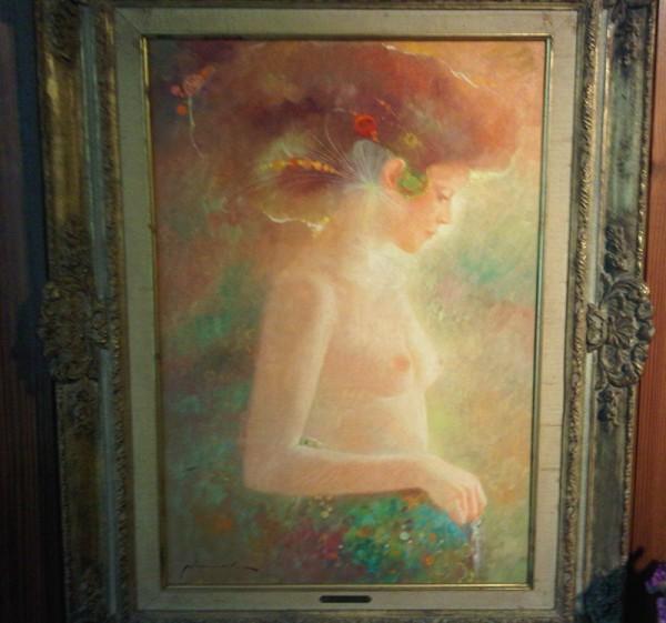 """""""Desnudo"""" Framed Original Oil/Canvas by Felix Mas"""