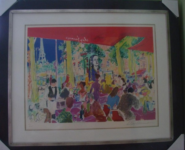 """Chez Francis"" Framed Serigraph by LeRoy Neiman"