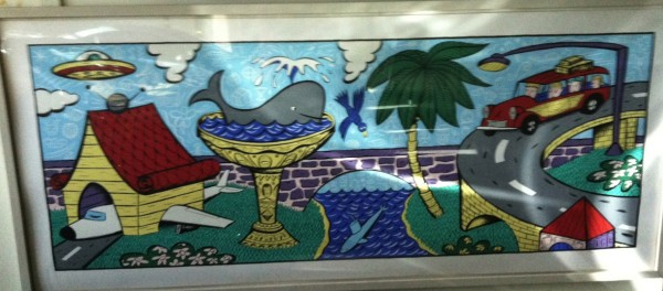 """Vacation Highlights"" Framed Serigraph by Rodney Alan Greenblat"