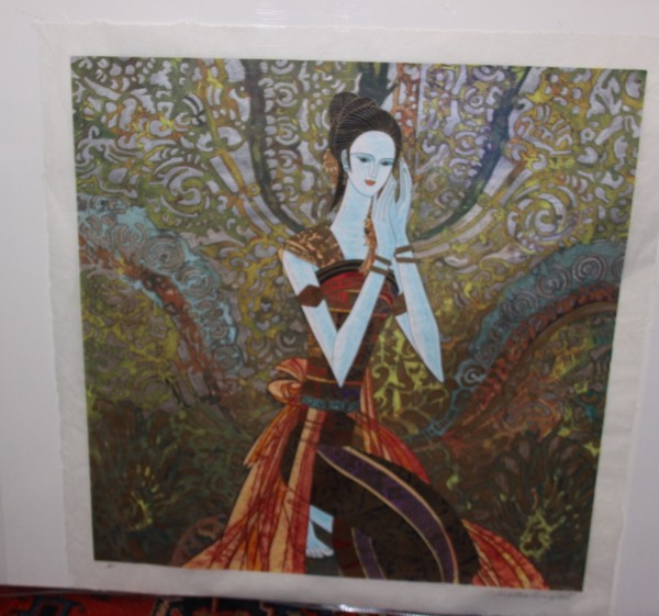 """""""The Blessing"""" Serigraph on Rice Paper by Ting Shao Kuang"""