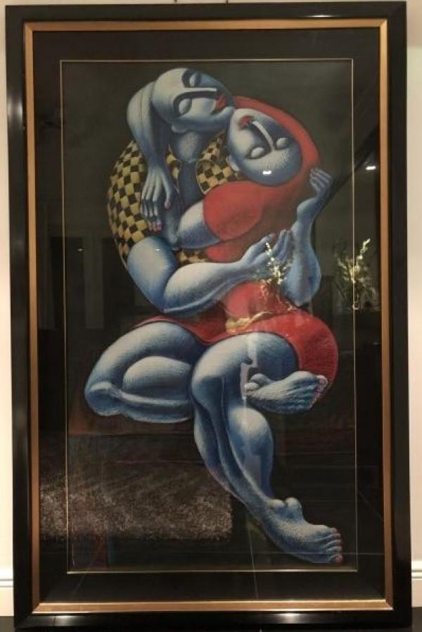 """""""The Hug"""" Serigraph by Yuroz"""