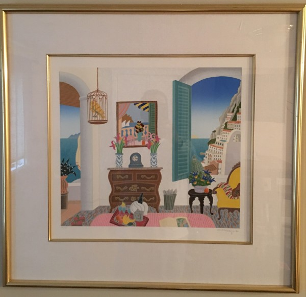 """""""Hotel Le Sirenuse"""" serigraph on Paper by Thomas McKnight"""
