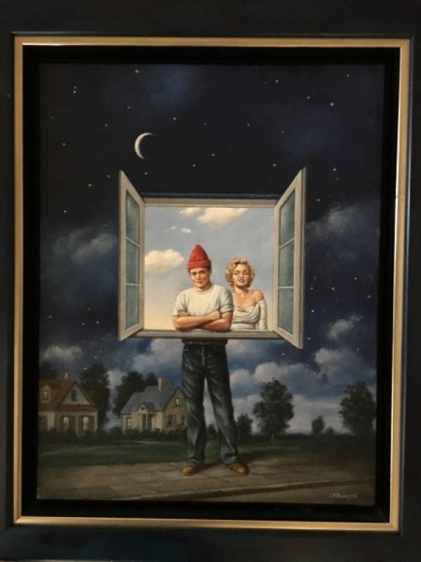 """""""Illusions"""" Original Oil on Canvas by Rafal Olbinski"""