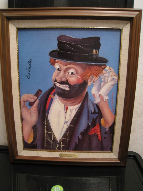 """The Philosopher"" Framed Serigraph by Red Skelton"