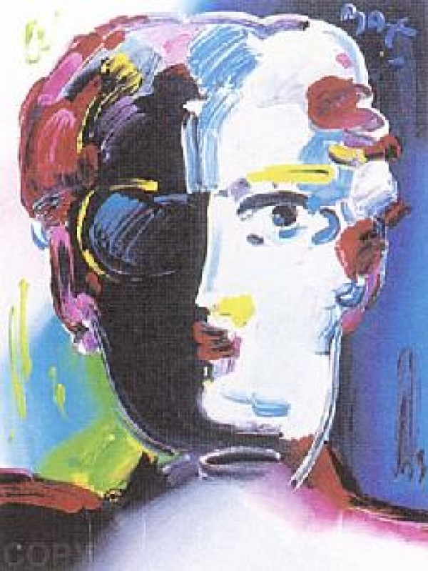 """Fauve"" Serigraph/Arches Paper by Peter Max from the Beauty and Fauve Suite"