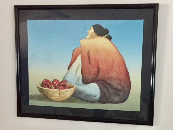 """Red Peppers"" Lithograph by R C Gorman"