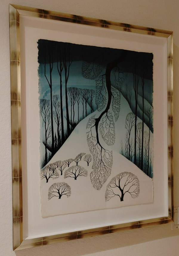 """Untitled"" Winter Scene Original Watercolor on Paper by Eyvind Earle"