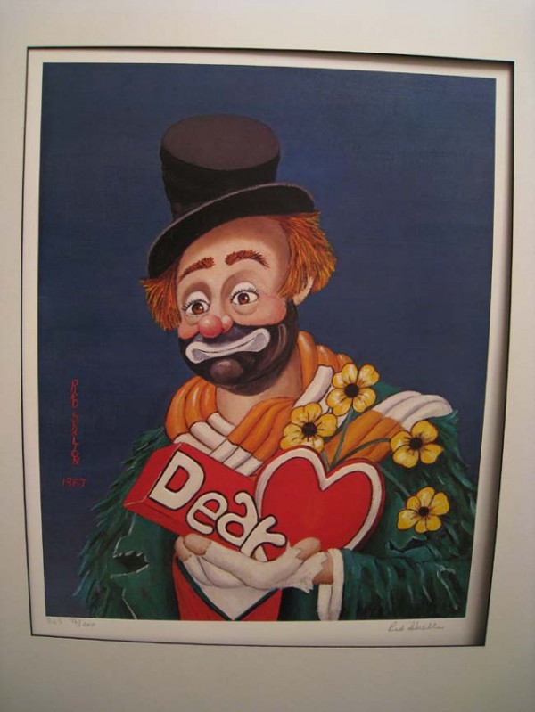 """""""Dear Heart"""" Matted Serigraph by Red Skelton"""