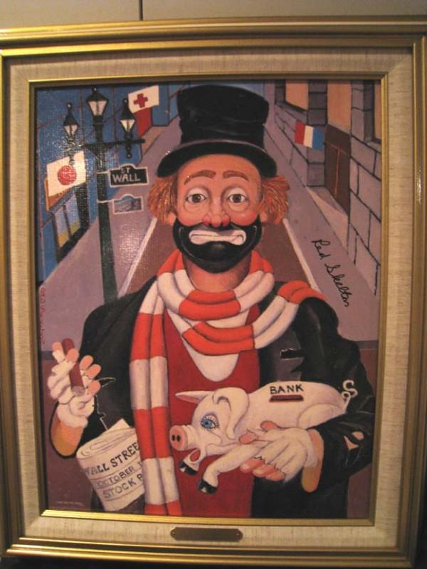"""""""The Banker"""" Framed Serigraph/Canvas by Red Skelton"""