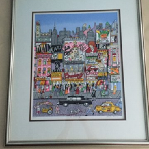 """From Greenwich Village..."" 3-D Print by Charles Fazzino"