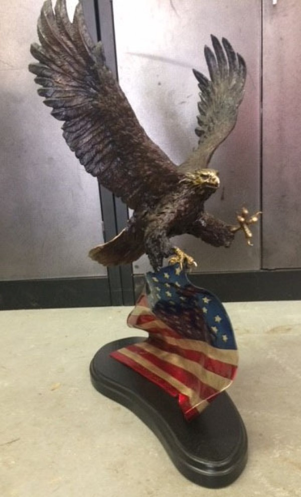 """Spirit of America"" Bronze Sculpture by Laran Ghiglieri"