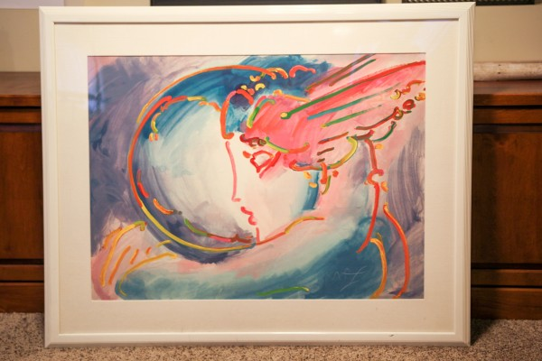 """I Love The World"" Serigraph by Peter Max"
