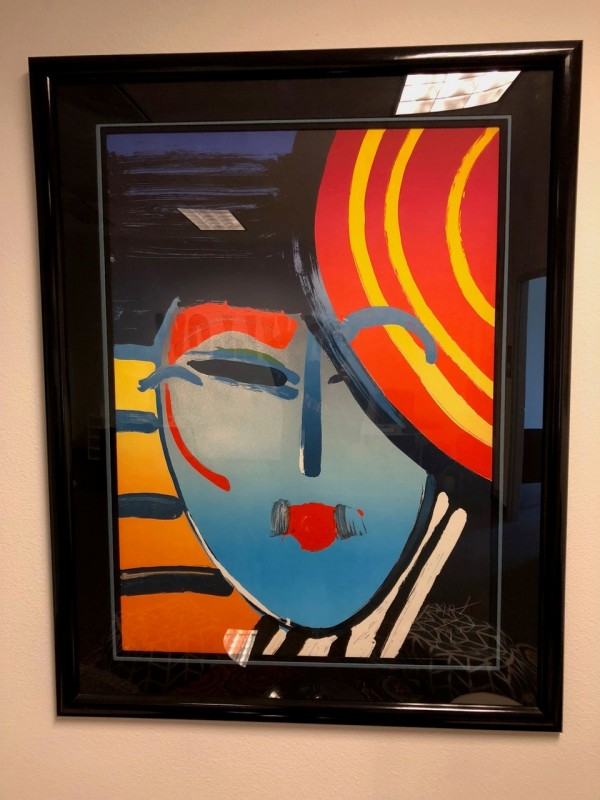 """Deco Lady 83"" Lithograph by Peter Max from the Ladies of the 80's Suite"